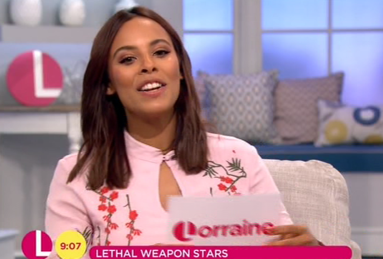 0efa1835e91fb400666853f12623f769 Rochelle Humes apologises for the SECOND time in two days after Lethal Weapon's Jordana Brewster swears on Lorraine