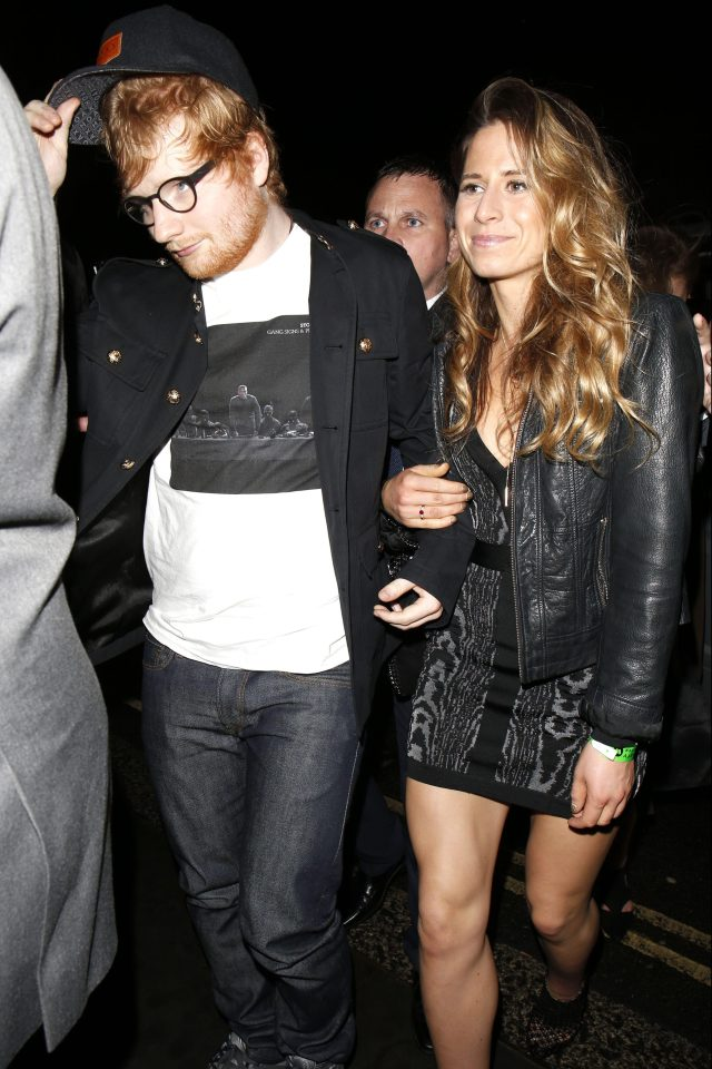1f6b80fce35f5aec9768d8eaf73fba53 Ed Sheeran forced to deny he's engaged after Russell Crowe called Cherry Seaborn his 'fiancée' – but admits he does want to be a dad now