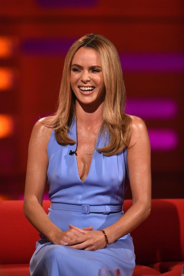 757232e16072d4ba6b6efa1614b37805 Amanda Holden has to wear silicone nipple covers to hide her famous golden buzzers
