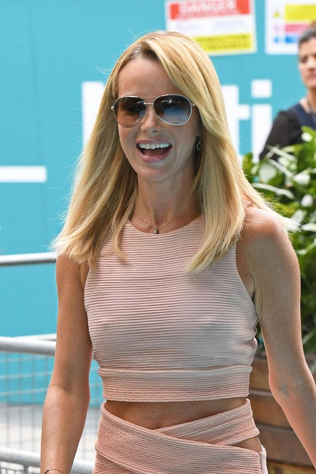 a6ed0fdad0ae799d94d68e1e9ff95ef7 Amanda Holden has to wear silicone nipple covers to hide her famous golden buzzers