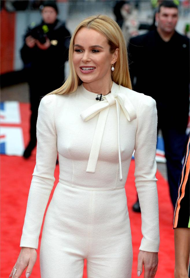 c6b54334c45405c813671b1856d0f2ea Amanda Holden has to wear silicone nipple covers to hide her famous golden buzzers