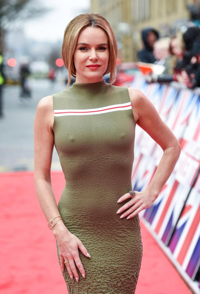 db2cff4fa7792ce23b913a690e345ddb Amanda Holden has to wear silicone nipple covers to hide her famous golden buzzers