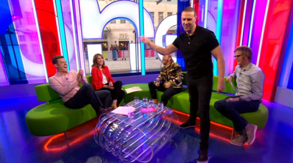 e073d11ebecbb1bb7cfdd1f4d61a760e Paddy McGuinness walks off mid interview on The One Show and Matt Baker can't stop laughing