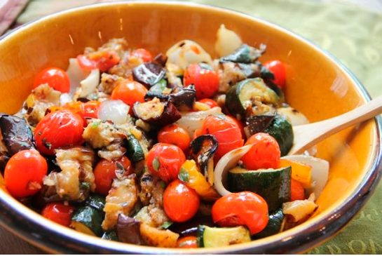e2a6a28f390788cdb4fcb15a95e77792 Outdoor grilled ratatouille creates lovely summertime char