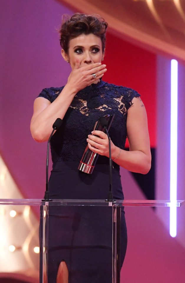 3b64f6ad8d7418053e741442564aa63c Emotional Kym Marsh dedicates British Soap Award win to late son Archie after heartbreaking Coronation Street late-term miscarriage storyline