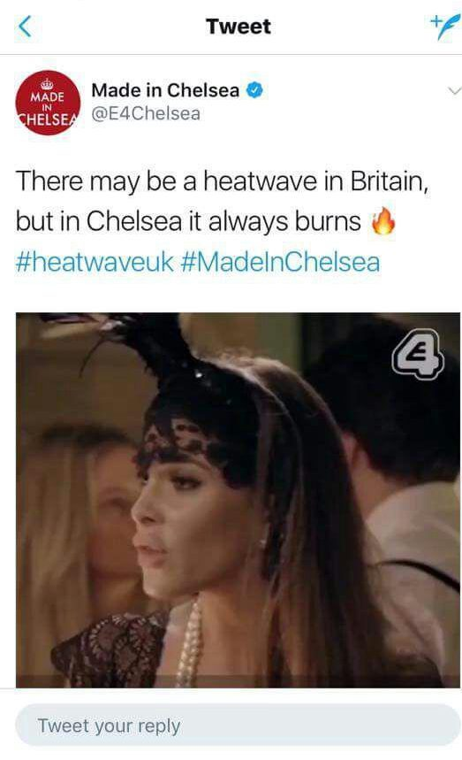 545991d656771fe7ad49451ffb1c78ff Made In Chelsea deletes insensitive tweet saying, 'It always burns' just days after Grenfell Tower tragedy