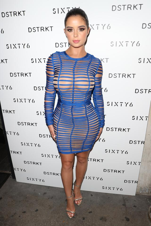5d371ec4e71266c0aa8acb7318c8cc9b Demi Rose flashes her nipples in risque see-through dress at Sixty6 Magazine party
