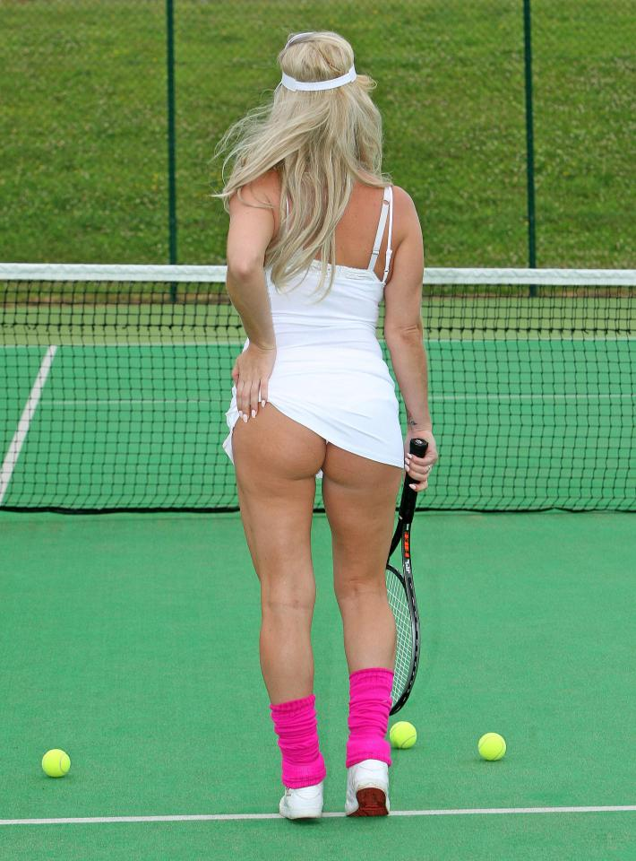 Danielle Mason Flashes Her Bum On The Tennis Court As She Recreates The Famous Athena Poster Latest Topics