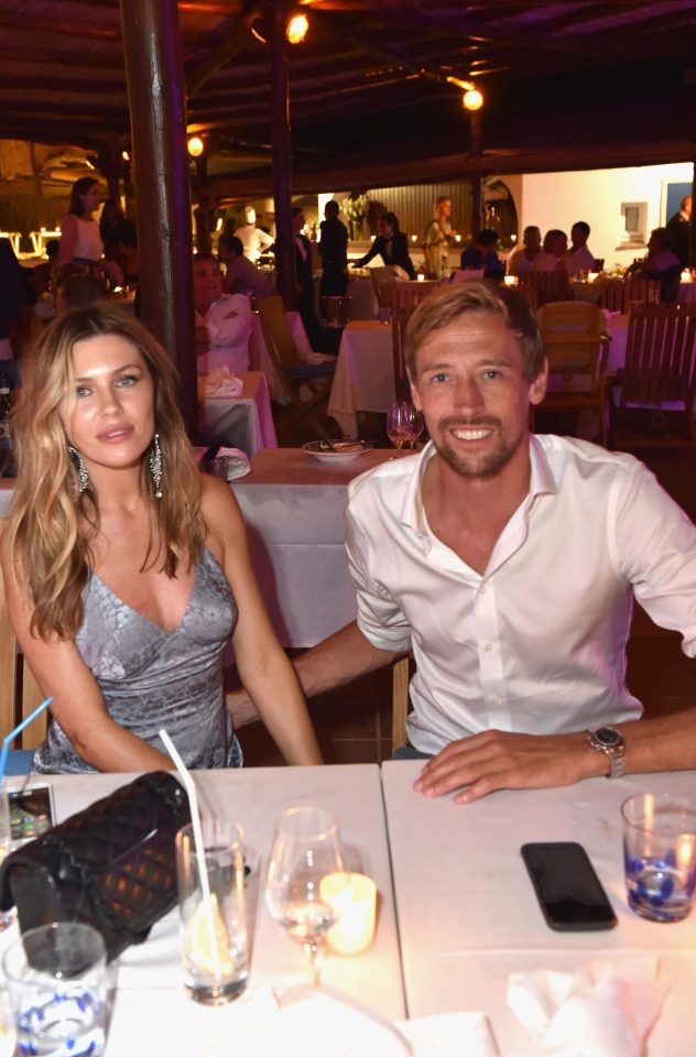 bc2f567420de782cc652c9f4c054b1e7 Abbey Clancy ditches the bra and looks stunning in a backless dress for date night with her husband Peter Crouch