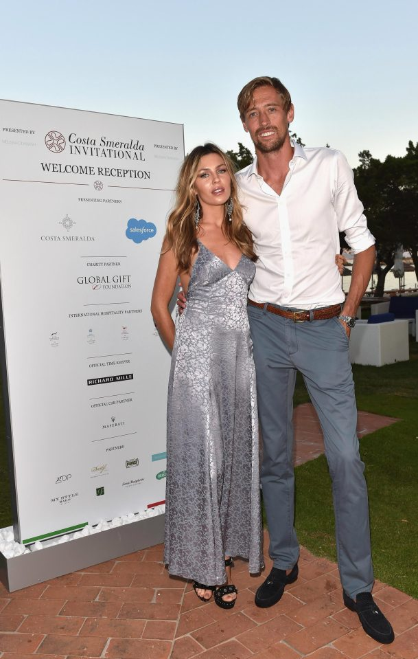 c54b7a7472517997555dc5ef80cf18b6 Abbey Clancy ditches the bra and looks stunning in a backless dress for date night with her husband Peter Crouch