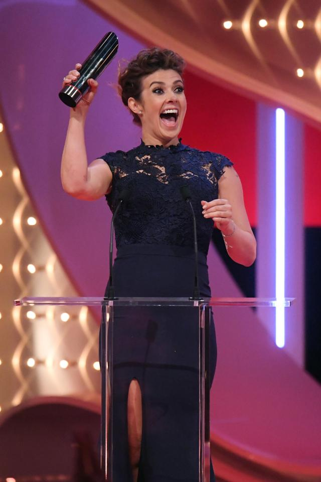 c6c8842f8d8bcbae9a5af385d788bad2 Emotional Kym Marsh dedicates British Soap Award win to late son Archie after heartbreaking Coronation Street late-term miscarriage storyline