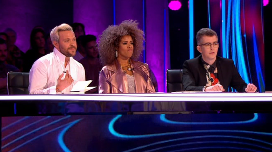 ee02b023a66682f6adfaf2a8e44adcd5 Pitch Battle fans compare judge Will Young to 'Kung Fu Panda' as they are left confused by bizarre white outfit