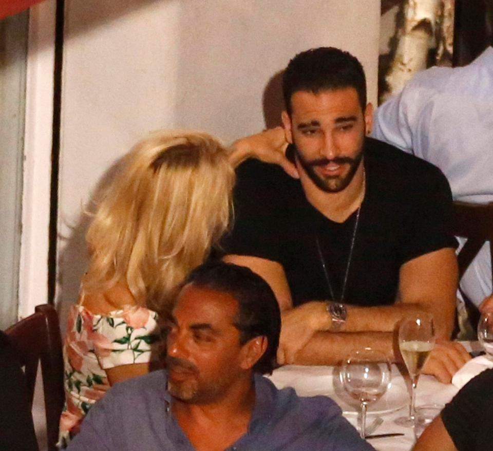 Adil Rami: Pamela Anderson Gets VERY Cosy With French Footballer Adil