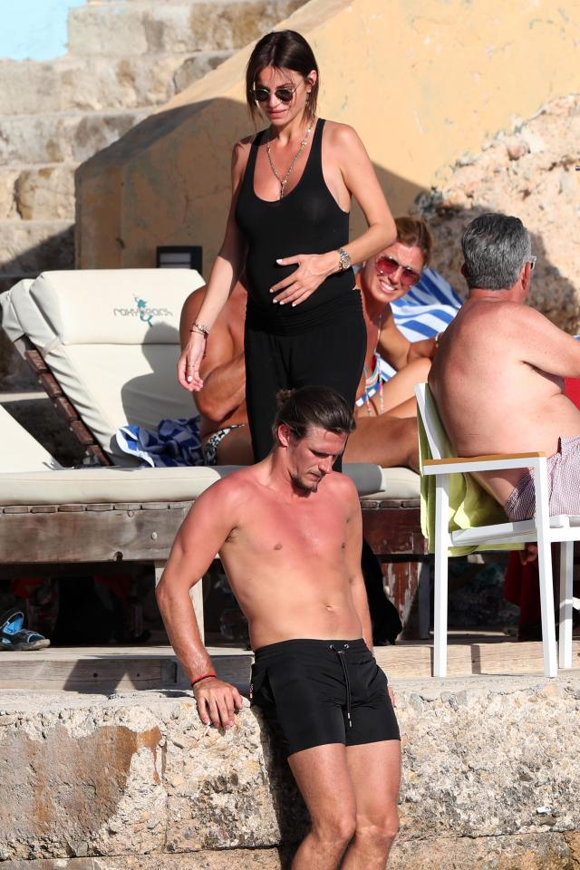2da04aeec3386afc8326ee70407d8cb1 Towie's Jake Hall confirms girlfriend Missé Beqiri is pregnant as he kisses her growing bump on romantic holiday in Spain