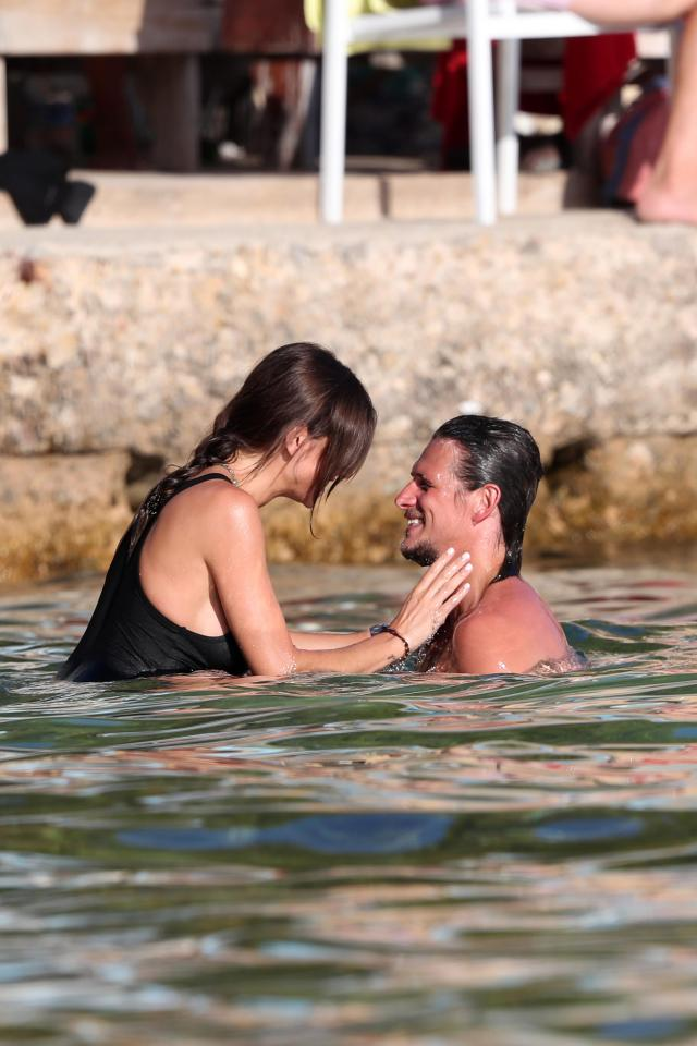 3a0ff466cab13ce11be11faee566c364 Towie's Jake Hall confirms girlfriend Missé Beqiri is pregnant as he kisses her growing bump on romantic holiday in Spain