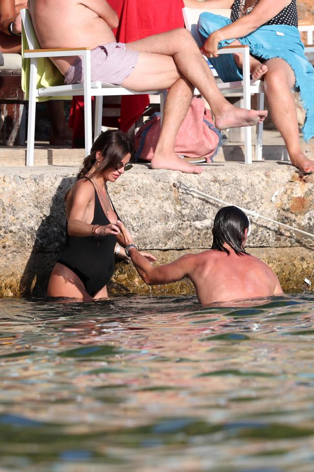 40266a95d596c744453a0cef3a32b752 Towie's Jake Hall confirms girlfriend Missé Beqiri is pregnant as he kisses her growing bump on romantic holiday in Spain