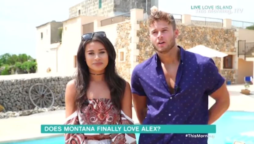 5b48253dba155a5bcf2b5a5f046caab1 Love Island's Montana Brown admits she still DOESN'T love Alex Beattie in awkward This Morning interview