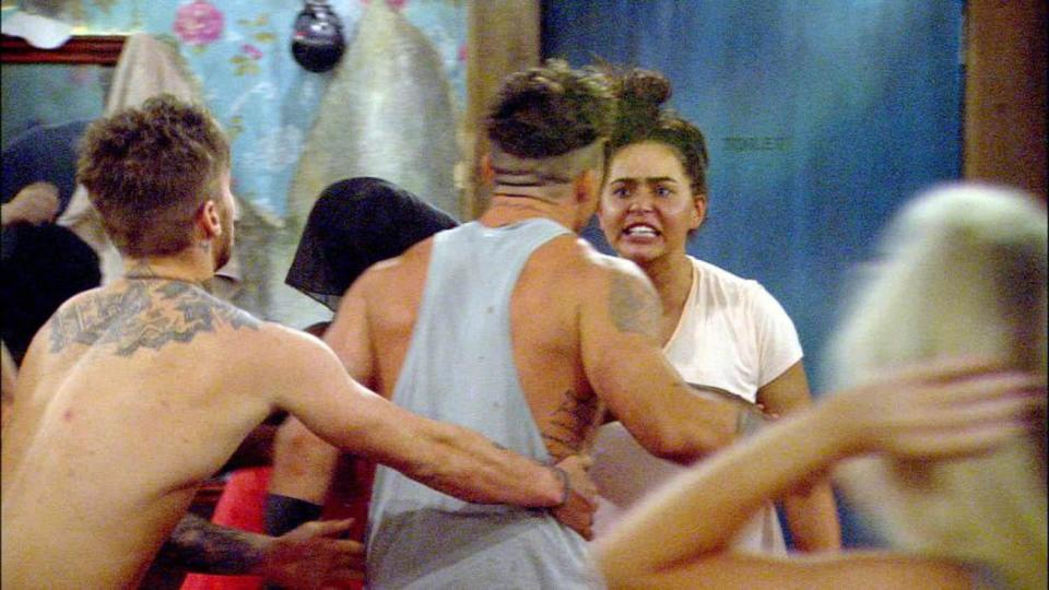 e7a56acbfd877e6d142b1e095366f8dc Big Brother bosses forced to beef up security for tonight's final wrap party over fears warring housemates will kick off – as Rebecca Jane calls for private meeting with Chanelle McCleary