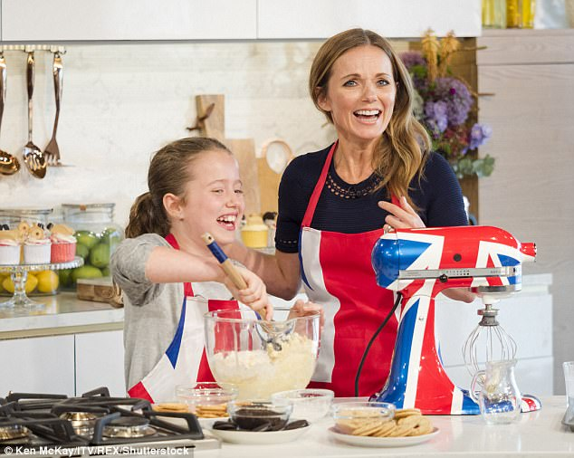 4f47bca6e09160f149f057f5025e99f8 'Bluebell showing Geri how it's done!': Viewers go wild as Horner's confident daughter, 11, steals she show during Spice Girls star's presenting debut on This Morning