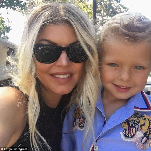 6d67d866952c84bc5b18712a02439b56 'Double trouble': Fergie shares sweet selfie of herself with son Axl Jack as he celebrates his fourth birthday in style