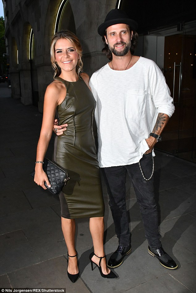 ee34114416458be5cd94844af82301c3 Get a room! Emmerdale's Gemma Oaten wears sexy leather dress as she gets hot and heavy with new beau Scott Walker in taxi following fashion party