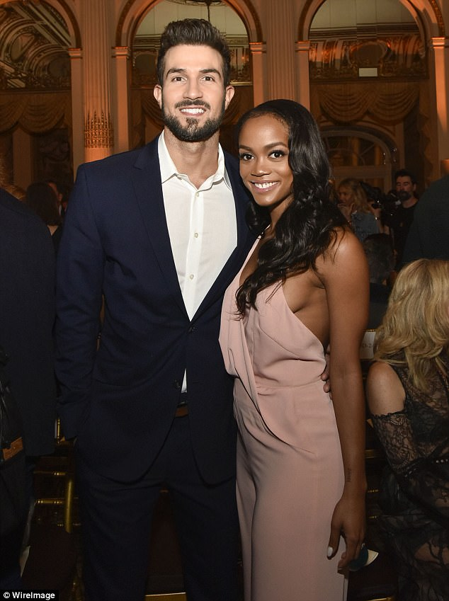 932eb667c62e08357bd81661c0807a8c Love suits them! Bachelorette Rachel Lindsay glows alongside fiancé Bryan Abasalo at Dennis Basso show during NYFW