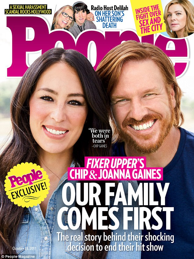 7dae473521d1694f5541ee20a4f2ea38 'Time to catch our breath': Chip and Joanna Gaines cover People... and reveal they 'gave everything we had' to Fixer Upper series