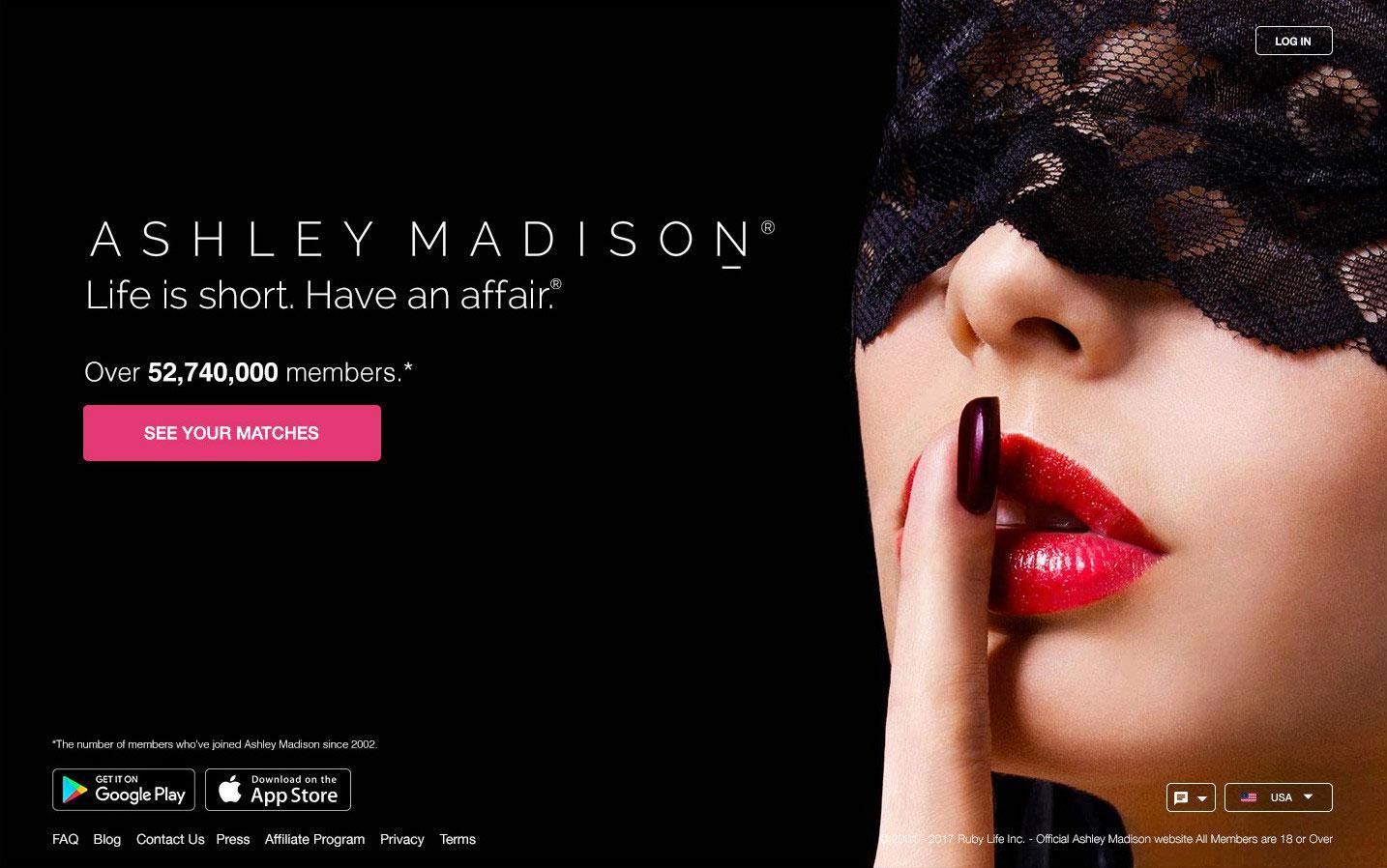 20236c56465945e3bae5e73ae1904d52 Affair app Ashley Madison 'threatens to sue one-night stand website CasualX' for nicking its raunchy slogan