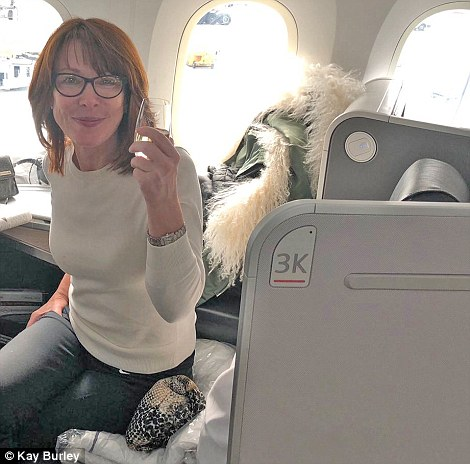 1f5d557543494742340f6acc2be33b73 How flying business class with Air Canada (almost) cured my fear of flying: Nervous passenger Kay Burley toasts the therapeutic qualities of the carrier's Dreamliner 'executive pod'