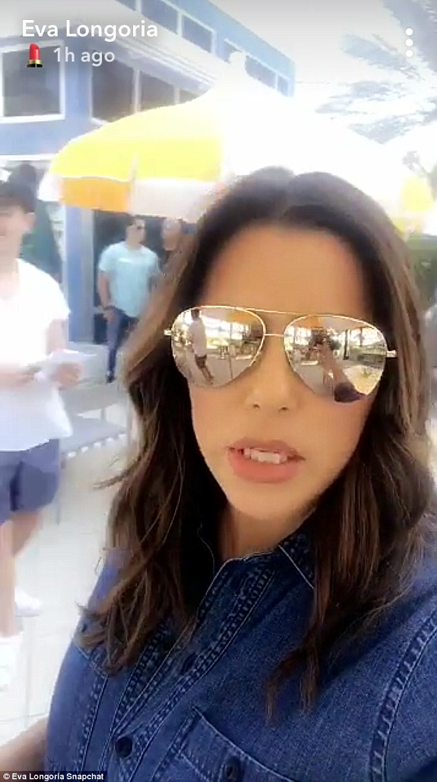 51358e72fe21148943f8968f12d87915 'Back on set!' Pregnant Eva Longoria shares behind-the-scenes snaps in Miami as she produces soap drama